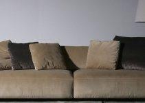 Sofá 4 plaza tapizado de tela grande