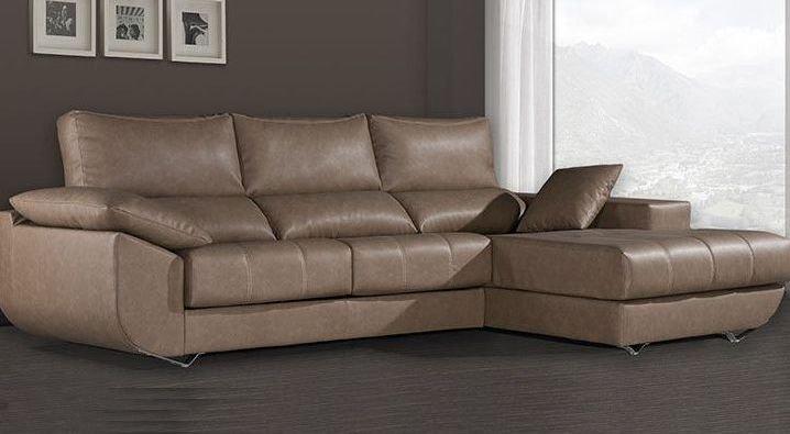 Sofá 4 plazas relax de tela grande