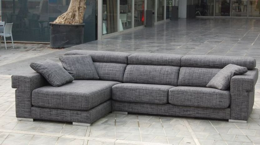 Sof s grandes de 5 plazas for Sofa 4 plazas mas chaise longue
