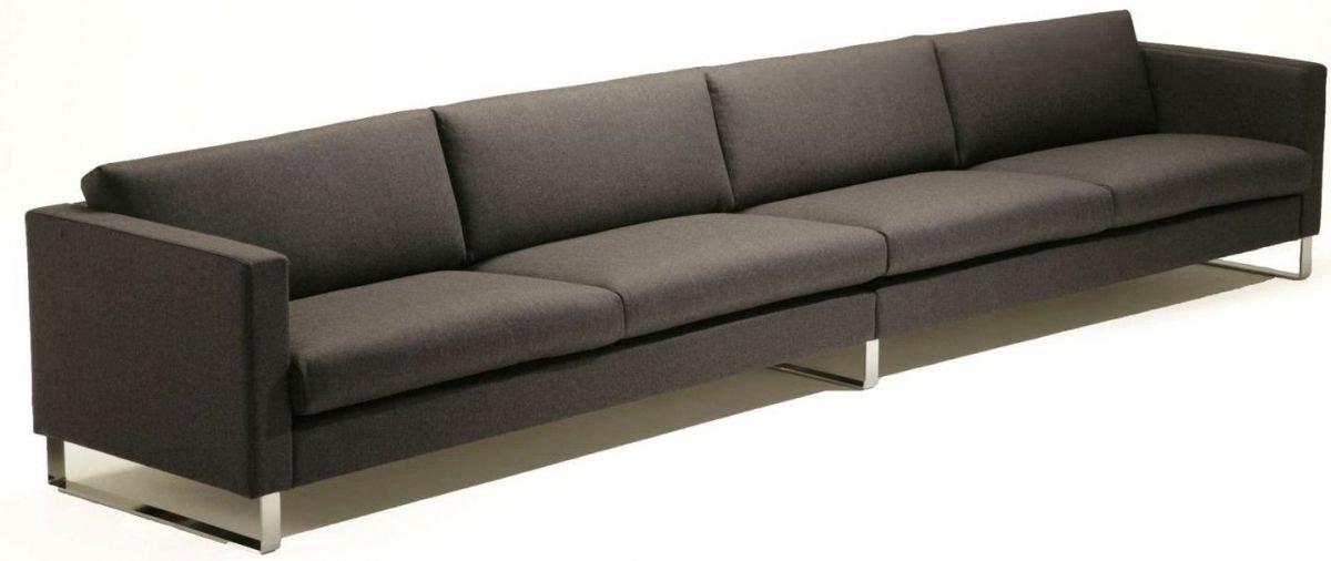 Sofá 5 plazas de tela de gran tamaño