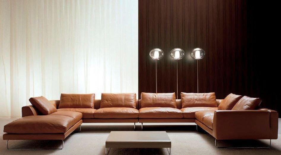Sofá 7 plazas de estilo refinado