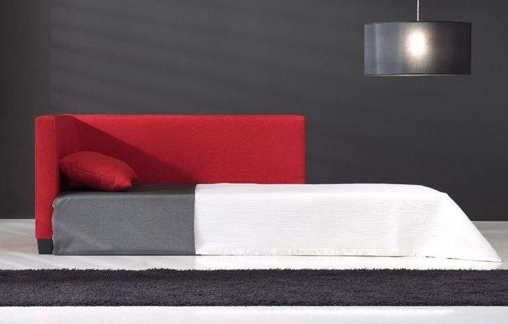 Sofá cama de piel grande