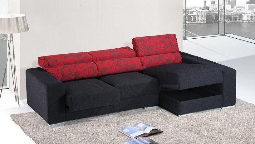 Sofá cama de tela grande