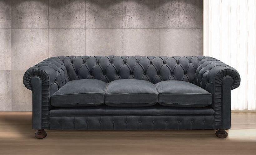 Sofá Chester de piel grande
