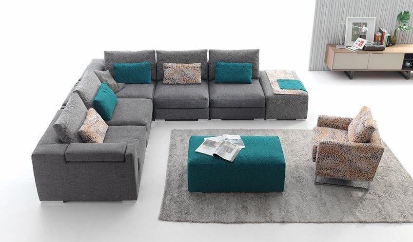 Sofá confortable de 7 plazas