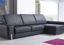 Sofá de cuero muy grande y moderno