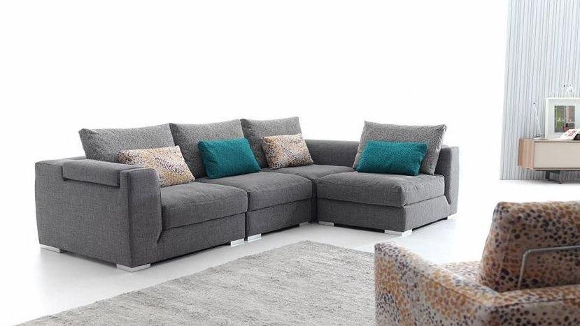 Sofá grande 4 plazas de aluminio