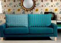 Sofá moderno de tela grande