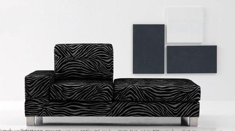 Sofá modular grande de cuero moderno