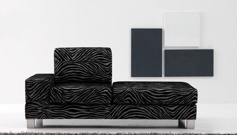 Sofá modular grande de cuero