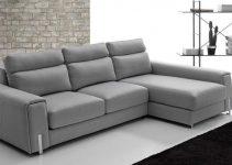 Sofá tapizado en piel grande rinconero